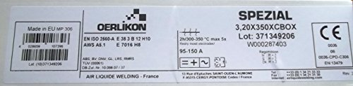 Oerlikon Spezial - Electrodo de varilla (3,2 x 350 mm, 125 unidades)