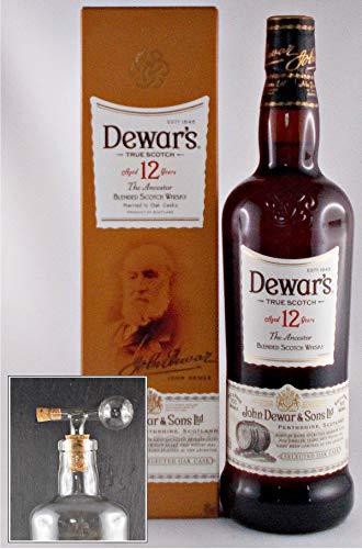 Dewars 12 Jahre Scotch Whisky + 1 Glaskugelportionierer