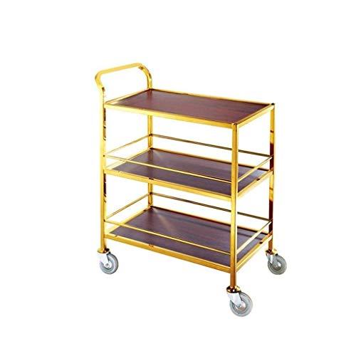XUSHEN-HU Carro de herramientas – Carro de té – Soporte para coche de postre, coche de servicio de hotel, carrito de 3 niveles (tamaño: 85 x 45 x 110 cm) cocina