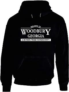 Visit Woodbury Georgia Hoodie The Walking Dead. Black