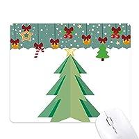 抽象的なクリスマスツリーの折り紙のパターン ゲーム用スライドゴムのマウスパッドクリスマス