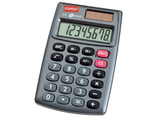 Staples 7348541 510 MINI Pocket Taschenrechner