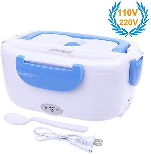 XYNB Lunch Box Elettrico, Lunch Box Riscaldamento Elettrico, con Cucchiaio Contenitore Rimovibile, scaldavivande Portatile Bento Box, scaldavivande per Ufficio, Rosa 110V-220V, Blu 110v-220v