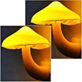 2Pack Mushroom Night Light Plug in Lamp by AUSAYE, Led Night Lights for Adults Kids Baby Children NightLight Warm White