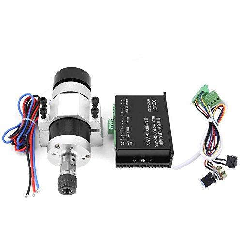 ER16 500W elektrischer bürstenloser Gleichstrommotor-Satz, bürstenloser Hochgeschwindigkeitsluftkühlspindelmotor + Fahrer + Klammer für Graviermaschine