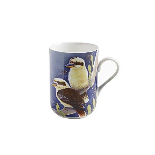 Maxwell & Williams PBD040 Birds of Australia Becher, Kaffeebecher, Tasse mit Vogelmotiv: Lachender Hans, in Geschenkbox, Porzellan