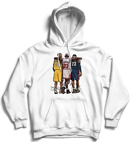 Generico Felpa Campioni di Basket NBA Kobe Bryant 24 Pallacanestro (Bianco, XL)