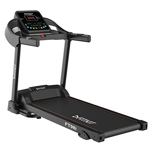 Fitkit FT098i Series 1.5HP (2HP Peak) Motorized Treadmill With Free Diet & Fitness Plan