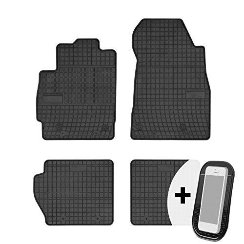 moto-MOLTICO Gummimatten Auto Fußmatten Gummi Automatten Passgenau 4-teilig Set - passend für Mazda 2 II 2007-2015