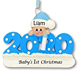 Knextion Inc Personalized Baby's First Christmas Ornament 2020 - Blue Boy