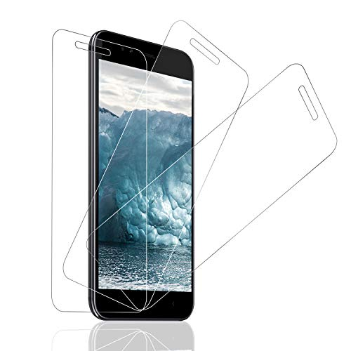 SNUNGPHIR® Cristal Templado Xiaomi Mi A1, [3-Pack] Protector Pantalla Xiaomi Mi A1 Cristal Templado [2.5d Borde Redondo] [9H Dureza] [Alta Definición] [Anti-Arañazos] [Anti-Huella Digital]