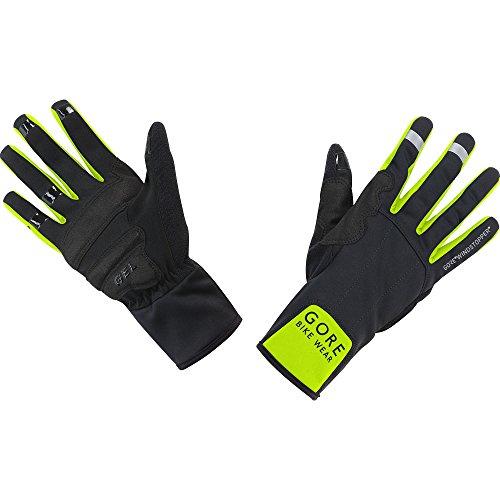 GORE BIKE WEAR, Guantes Unisex para ciclismo, GORE WINDSTOPPER, UNIVERSAL Mid Gloves, Talla 8, Negro/Amarillo neón, GWUNIV