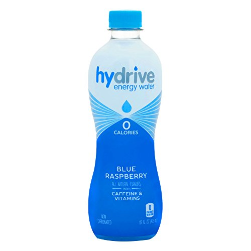 Hydrive Energy Water | Blue Raspberry | Sugar Free | Zero Calories | All Natural Flavors | Natural Energy | 16 oz (Pack of 12)