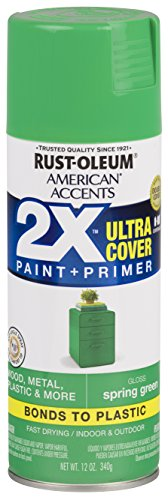 Rust-Oleum 327888 American Accents Spray Paint, 12 Oz, Gloss Spring Green