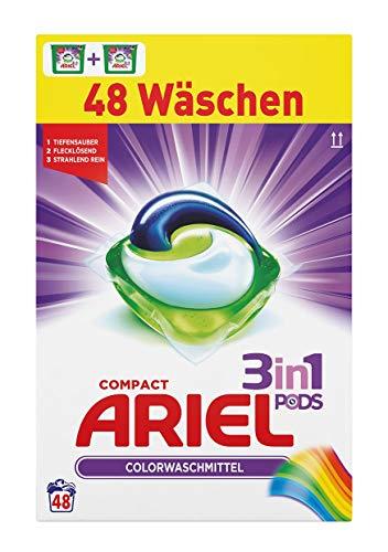 Ariel 3en 1 -Detergente en cápsulas, 1 paquete (48lavadas)