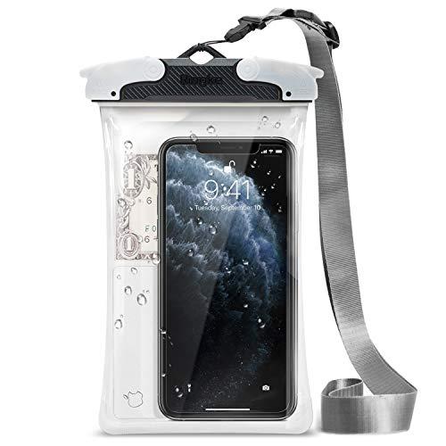 Ringke Custodia Impermeabile [Nero] Trasparente Cellulare Cover per iPhone 11 PRO Max, 11, XS, XR, Galaxy Note 10 Plus, Galaxy S20, S20 Plus, S20 Ultra, Tutti i dispositivi Fino a 6.3' (Grande)