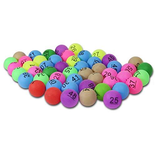 perfecthome 50Pcs 2.4g Entrenamiento publicitario Bolas de lotería Entretenimiento Colorido Tenis de Mesa y Juegos de lotería Publicidad Digital Table Tennis PP Material