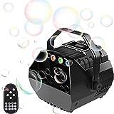 U`King - Macchina per bolle di sapone con luci RGB, macchina automatica per bolle d'aria, per bambini, feste, matrimoni, bolle d'aria