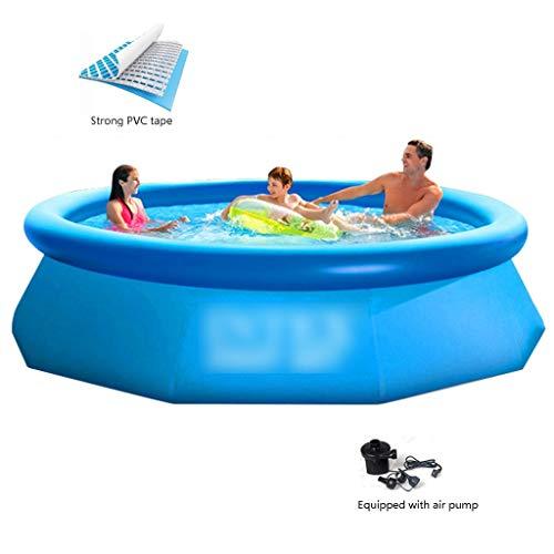 Piscinas Inflables Piscinas Ronda Family Pool Cubierta Piscina For Niños Inflable Salón De Fiesta del Agua Verano (Color : Blue, Size : 244 * 76cm)
