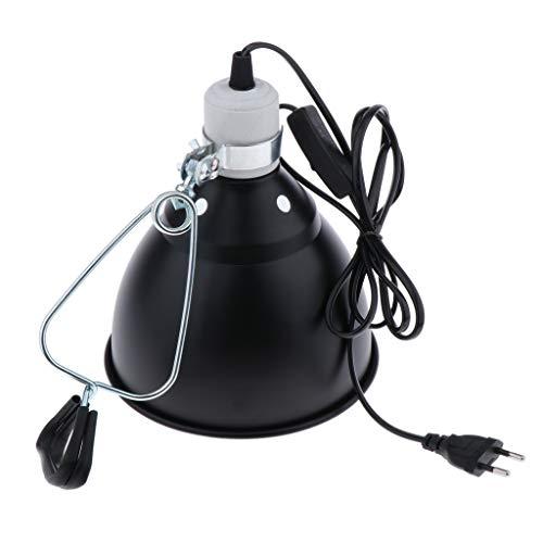 PETSOLA Reflektor Klemmleuchte Klemmlampe mit E27 Fassung für Terrarium Lampen