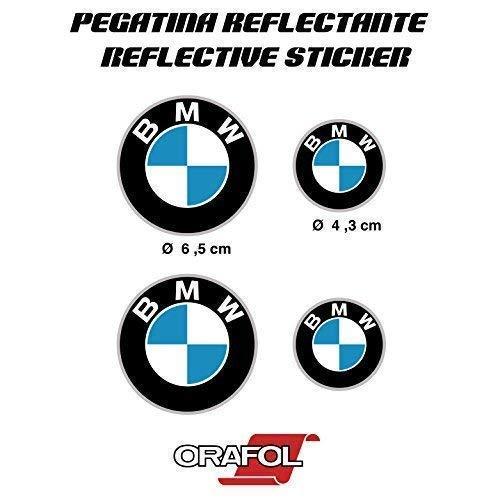 Aufkleber Aufkleber Aufkleber Aufkleber Aufkleber Autocollants Kompatibel mit BMW Reflektierende Motorrad Auto Vinyl 4 Einheiten REF1