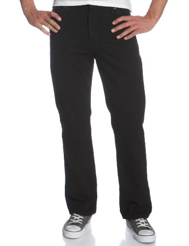 Lee Men's Regular Fit Straight Leg Jean, Double Black, 29W x 30L