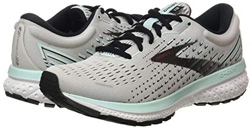 Brooks Ghost 13 Grey/Fair Aqua/Black 5 B (M)