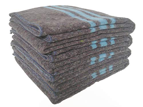 Sanz Marti - Mantas Mudanzas 140x200 gruesas Fabricadas en España - pack 4 mantas - azul