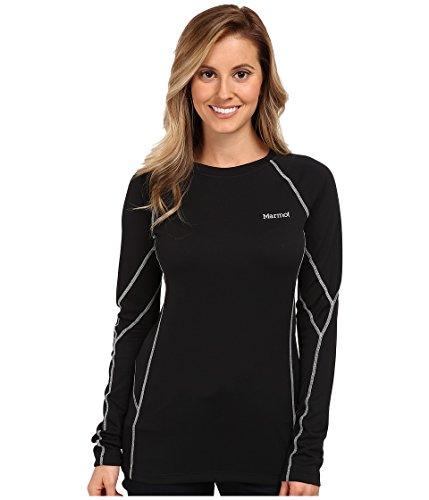 Marmot T-Shirt de Sport à Manches Longues et col Rond pour Femme ThermalClime Large Noir - Noir