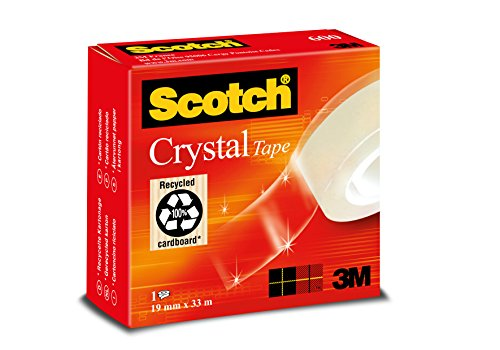Scotch C6001933 Klebeband Crystal (transparent, 19 mm x 33 m)