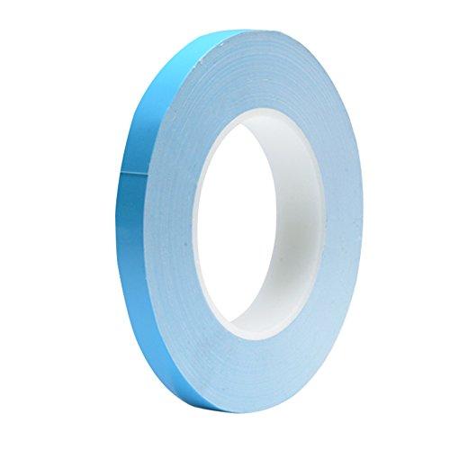 Nicelux Doppelseitiges wärmeleitendes Klebeband für den Kühlkörper von LED-Licht, PC und mehr, elektrisch isoliert, 1 Rollenpaket (8mmx82ftx0.3mm)