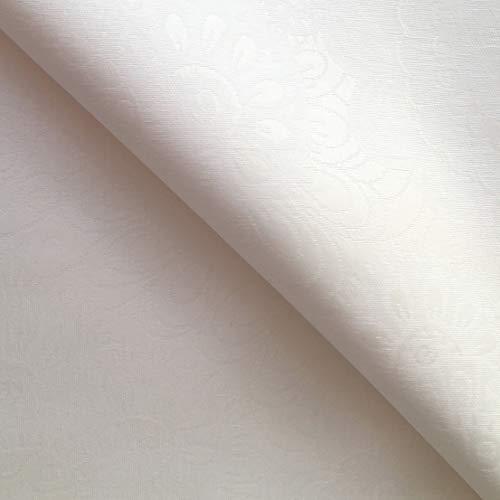 Rond Blanc – Blanco facile à nettoyer Nappe Jacquard – 180 cm de diamètre