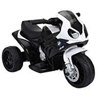 HOMCOM Compatible for Kids 3 Wheel Electric Motorbike Ride on Motorcycle w/ Headlights Music Battery...