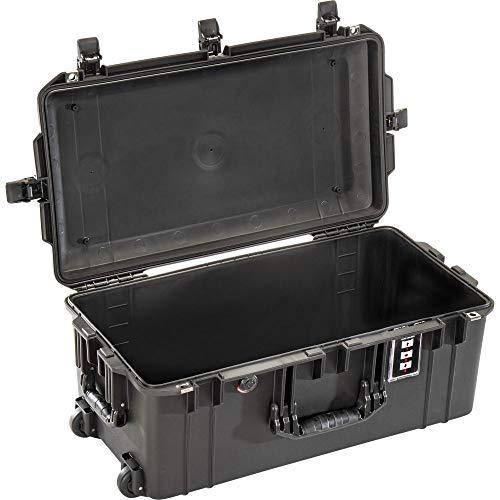 PELI 1606 Air Maleta Protectora Ligera con Ruedas y asa Extensible para Equipos ópticos y fotográficos, estanca e Impermeable al Polvo, 50L de Capacidad, Fabricada en EE.UU, sin Espuma, Color Negro