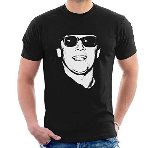 Jack Nicholson Retro Sunglasses Headshot Men's T-Shirt Black