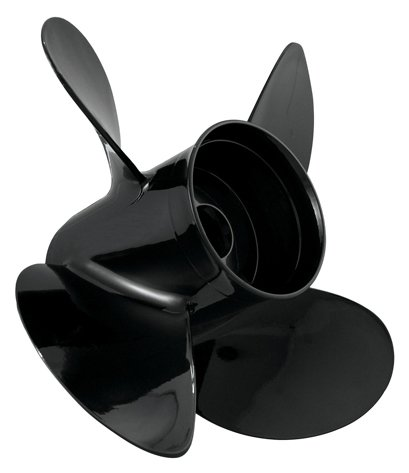 Turning Point Propellers 21501930 Hustler Aluminum Propeller 4-Blade, Black
