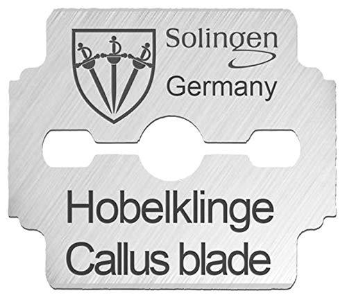 3 Swords Germany - 80 hojas de recambio para cortacallos, podología - Made in Solingen Germany (7490)