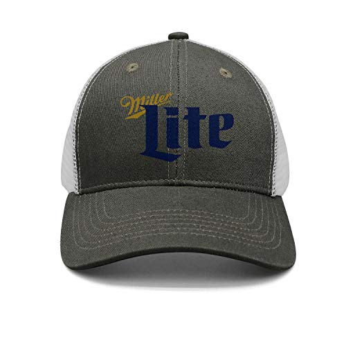 Mesh Baseball Cap Adjustable Fitted Miller-Lite-Beer Vintage Men's Visor Hats Army-Green