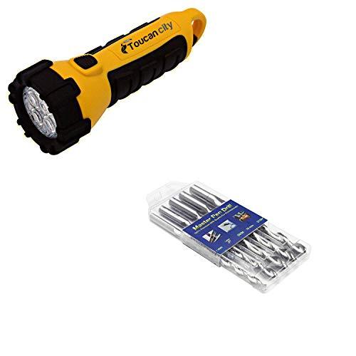 Toucan City LED Flashlight and Fisch Pen Makers High Speed Steel Drill Bit Set (5-Piece) FSN-356721