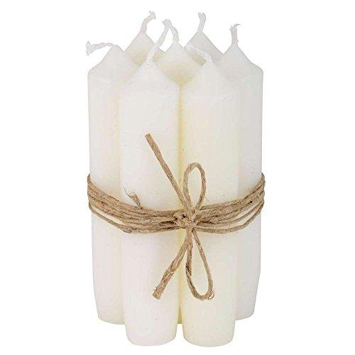 IB Laursen - Stabkerzen Kurze Kerzen - Weiß - Brenndauer: 4,5 Stunden - 6er Set