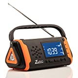Emergency Radio with NOAA Weather Alert - Hand Crank & Solar Powered Hurricane Radio – AM FM Weather Survival Radio with Battery Backup, Flashlight, Phone Charger, SOS Alarm, Bonus Survival Whistle