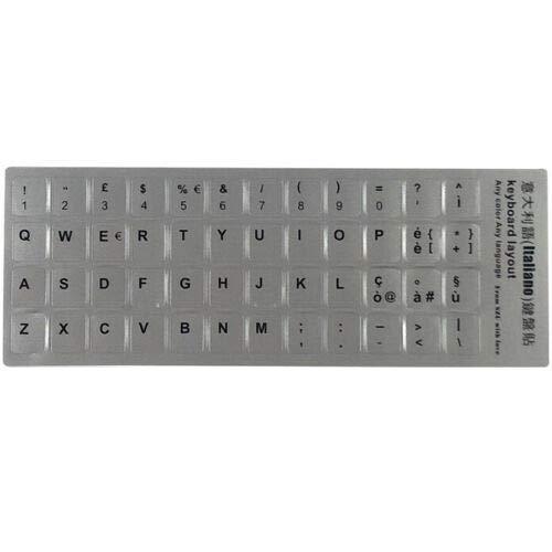 AdesiviTastiera.it - Adesivi tastiera Italiano fondo grigio lettere nere