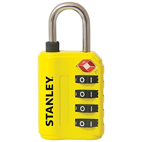 Stanley 81152393401 Lucchetto TSA a 4 Cifre, 30 mm, Giallo