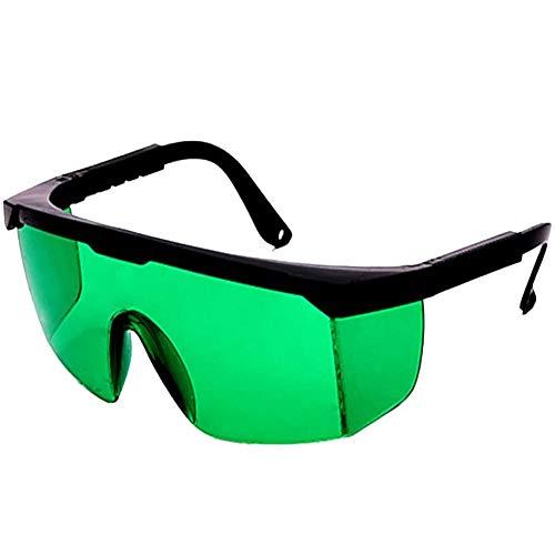 Schutzbrille Lichtschutzbrille für die HPL/IPL Haarentfernung Gerät Einstellbar IPL Haarentfernungsgerät Brille Schutzbrille für IPL Haarentferner für Körper Gesicht Bikini-Zone & Achseln(Grün)
