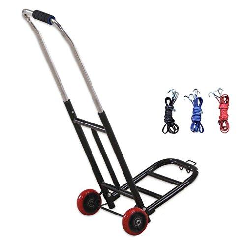 Ali Lamps@ medelstor PU-hjul-handvagns-löparkatt shoppingvagn Köp en biljärnkonst-bärbar liten kundvagn skicka bunden lina