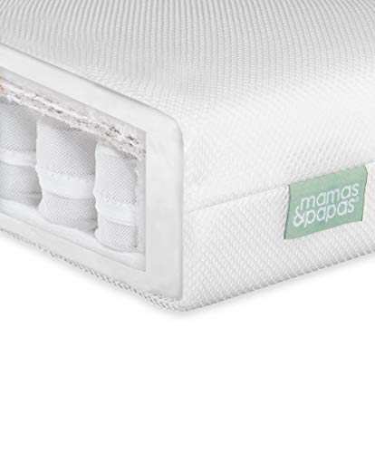 Mamas & Papas Baby Premium Pocket Spring Mattress for Cotbed, Nursery Furniture – 140 x 70 x 10cm