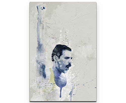 Paul Sinus Art Freddie Mercury V 90x60cm auf Leinwand gespannt fertig zum aufhängen