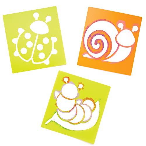 """Baker Ross Schablonen """"Insekten"""" (6 Stück) – Frühlings-Bastelidee für Kinder zum Verzieren und Gestalten"""