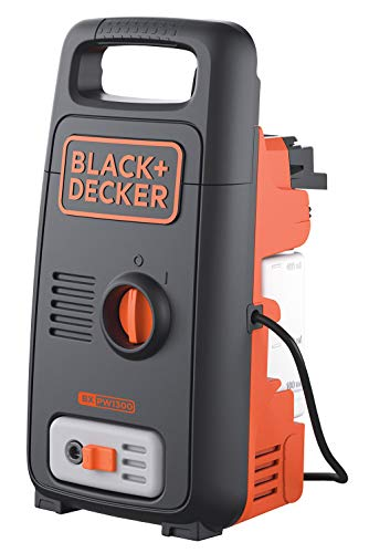 BLACK+DECKER BW13 1300Watt 100 Bar,390 L/hr Pressure Washer for Car wash and Home use (Red & Black) (BXPW1300E-B5)
