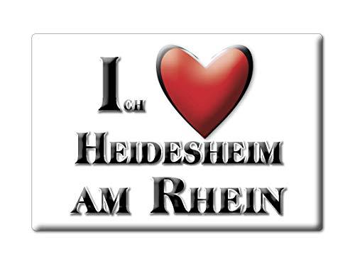 Enjoymagnets HEIDESHEIM AM RHEIN (RP) Souvenir Deutschland Rheinland Pfalz Fridge Magnet KÜHLSCHRANK Magnet ICH Liebe I Love